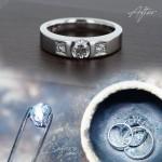持込金属(プラチナ枠)を3本溶かして1本の指輪加工できますか?